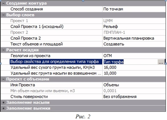 Окно параметров команды